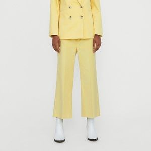NWT zara women high waisted cord yellow culottes